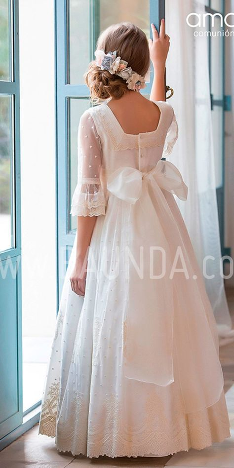 Vestido comunión Amaya 2019 modelo 916 Madrid y tienda