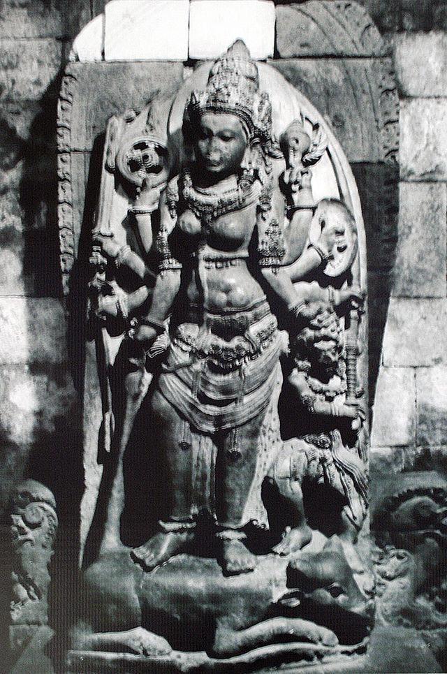 The statue of Durga Mahisasuramardini in Shiva temple. Prambanan, Central Java, Indonesia. #WorldHeritage