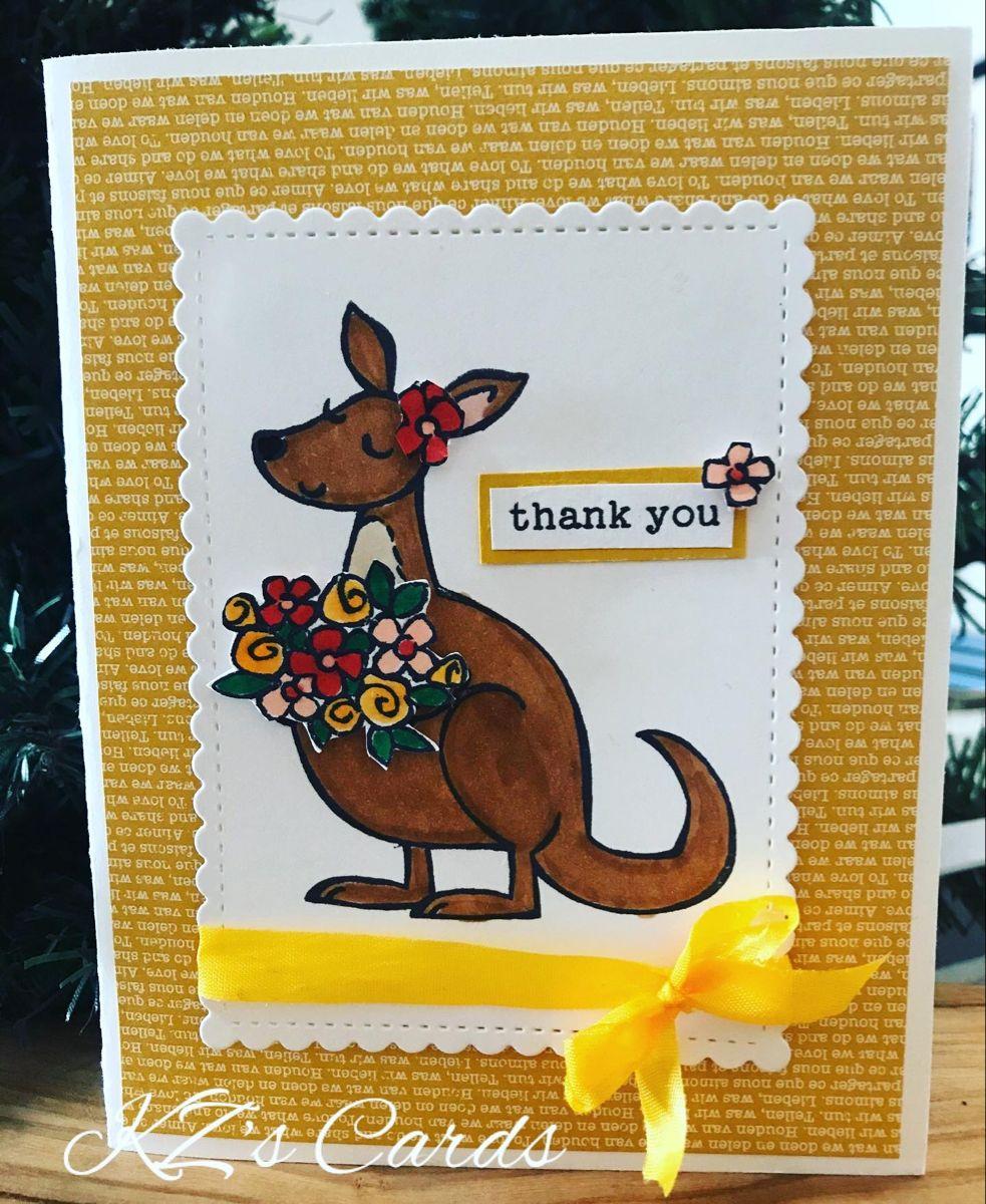 Stampin Up Kangaroo Company Stampin Up Cards Kids Cards Stamped Cards