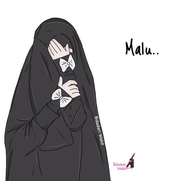 Gambar Kartun Muslimah Bercadar Malu islamic Anime