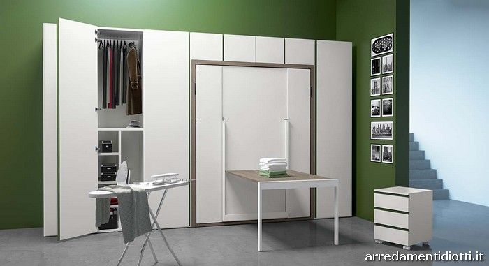 il sistema a scomparsa ima si adatta bene anche ad un locale stireria good pinterest. Black Bedroom Furniture Sets. Home Design Ideas
