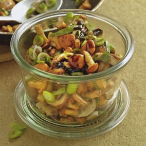 Pilzsalat mit Kürbiskern-Dressing