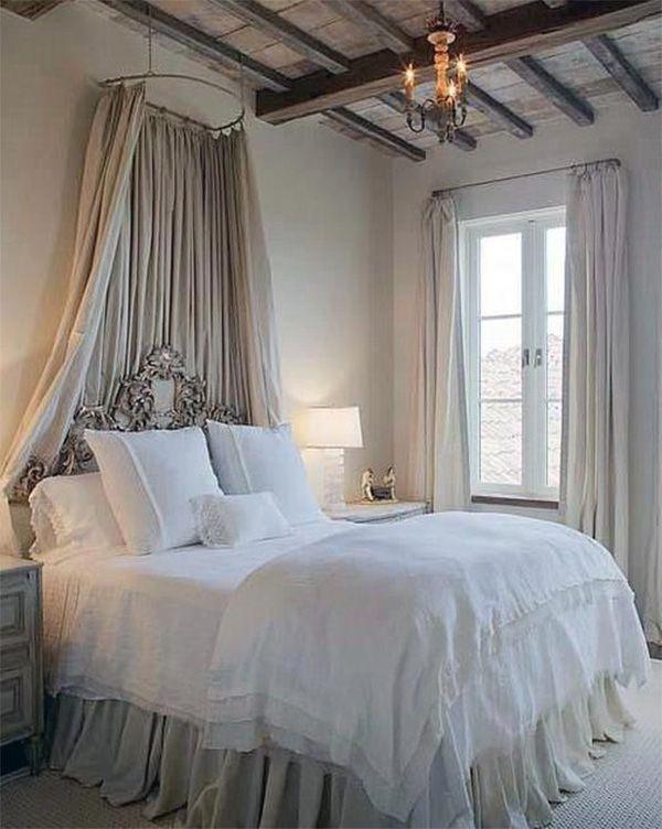 Rustic Romantic Bedroom Ideas: Light Romantic Bedroom Interior Design Idea