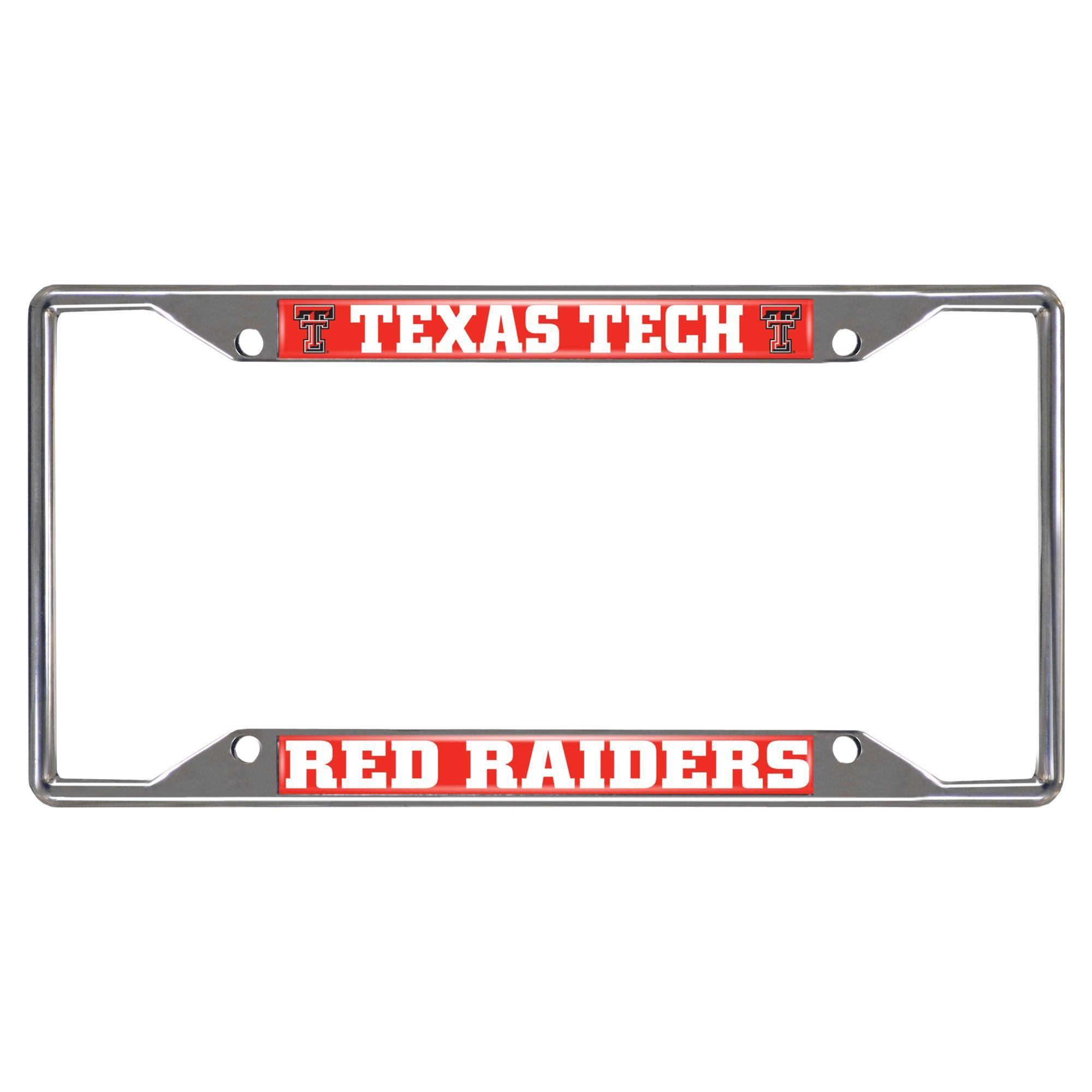 Fanmats Texas Tech Raiders Chrome (Grey) Metal License