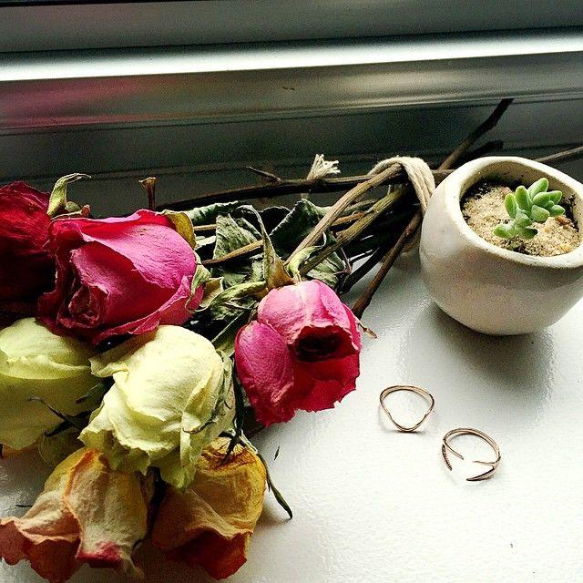 Rose + Rose Gold RIngs! WWW.ALIBINYC.COM