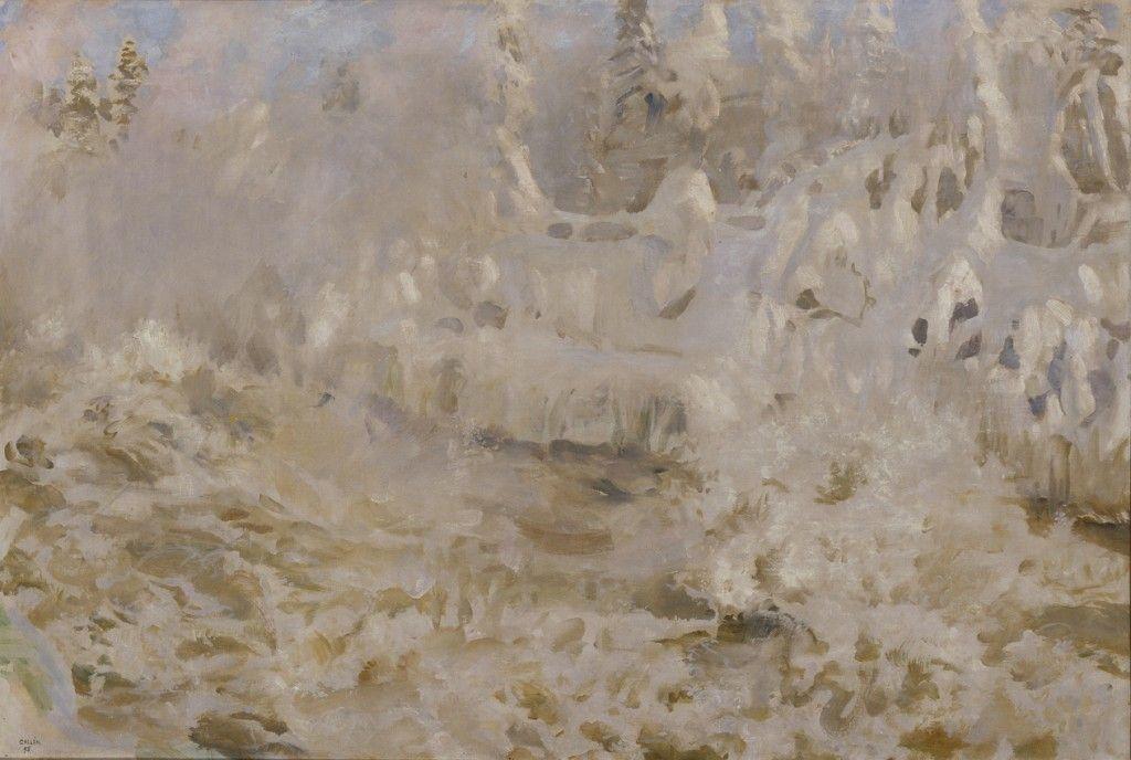 Talvinen Imatra, 1893.