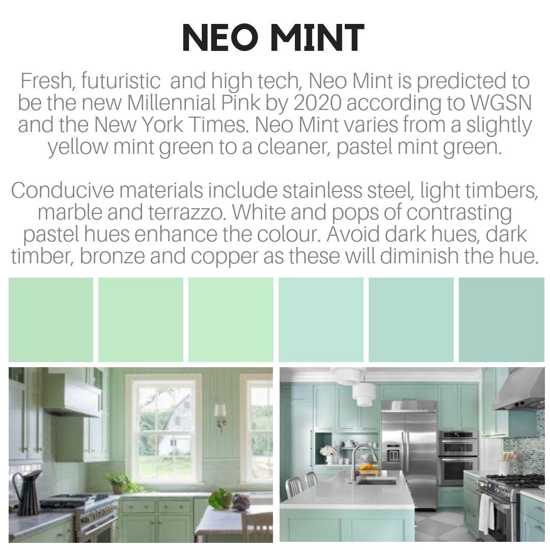 Neo Mint is one of four key colours for 2020 according to ...