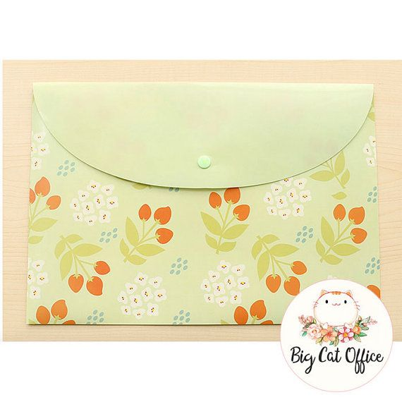Floral Folders, Plastic Folder, Cute Stationery, Pastel Folder, Floral Material, Filing Folder, Paper Organiser, gift for her