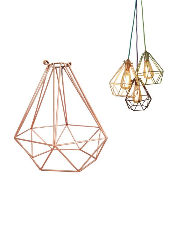 Cage Only Diamond Lamp Shade Pendant Guard Light