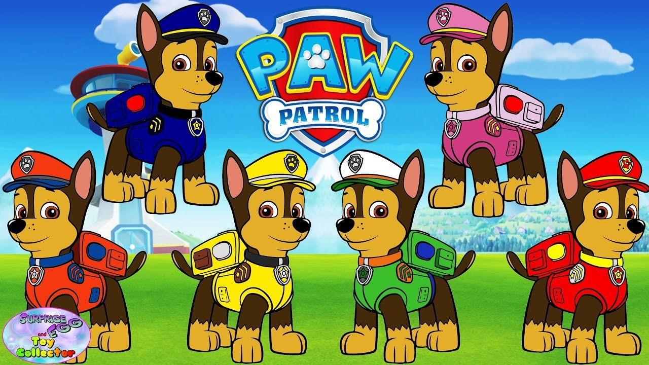 Paw Patrol Nick Jr Transforms Chase Color Swap Skye Episode Surprise Egg