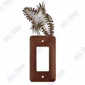 Pine Cone Single Rocker Metal Switch Plate Cover