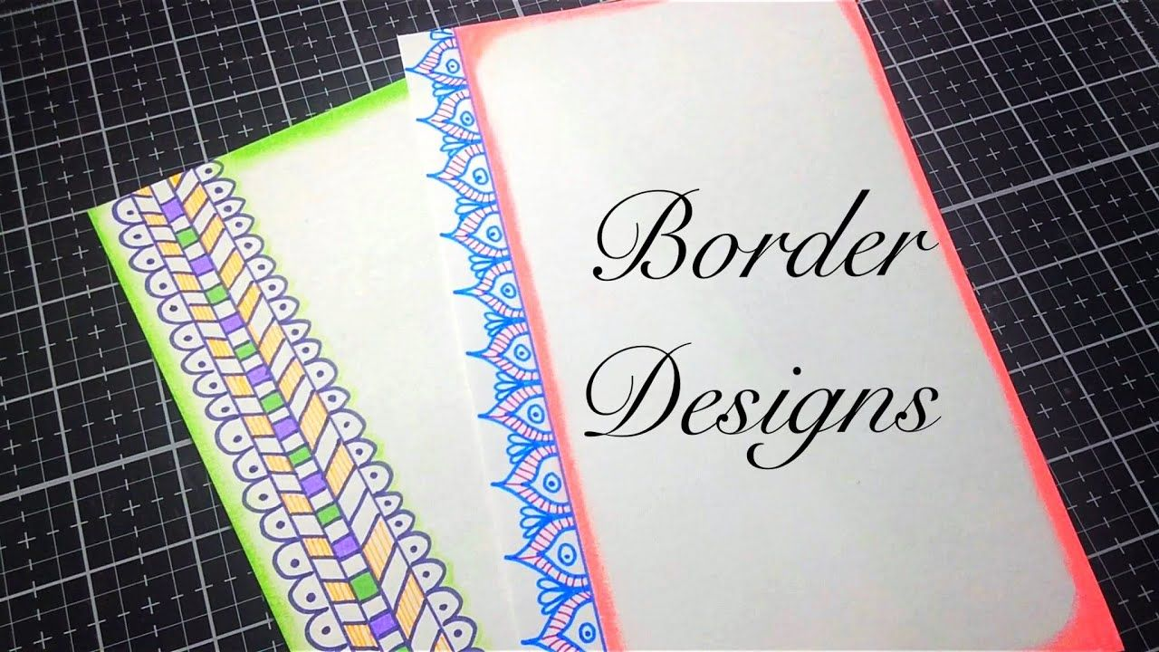 2 In 1 Simple Border Design For Project Paper Design Assignment Design Youtube Border Design Simple Borders Paper Design