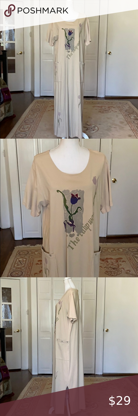 Cactus Tulip Maxi Dress W Pockets Maxi Shirt Dress Maxi Dress Dresses [ 1740 x 580 Pixel ]