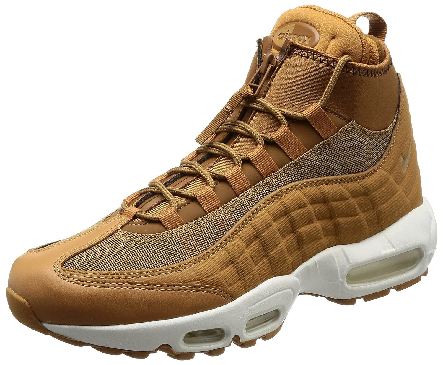 Nike Air Max 95 LeatherTextile Brown Sneaker Boot: Amazon