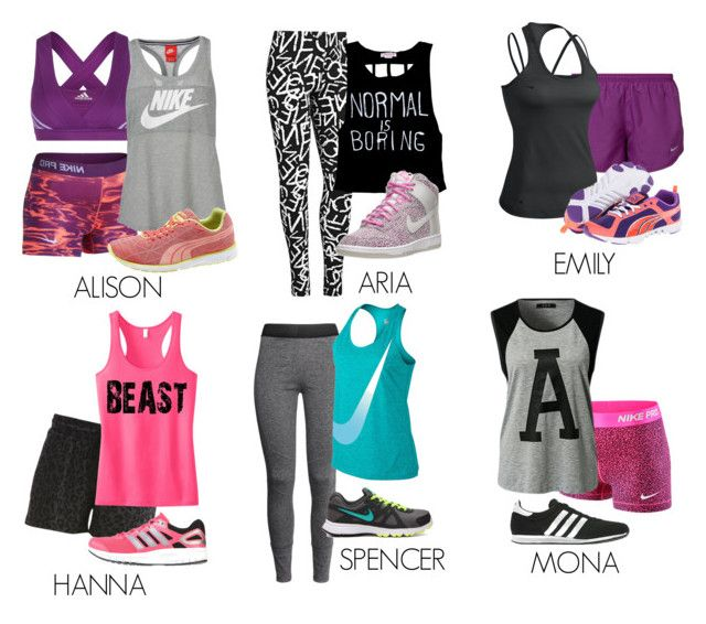 e8a70f9ff4 Pretty Little Liars inspired workout outfits by liarsstyle on Polyvore  featuring VILA