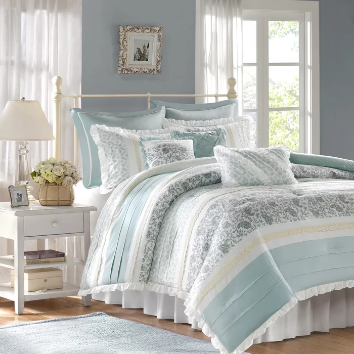 Ophelia Co Hailee 180 Thread Count 100 Cotton Reversible Comforter Set Reviews Wayfair In 2020 Comforter Sets Comfortable Bedroom Bed Comforter Sets