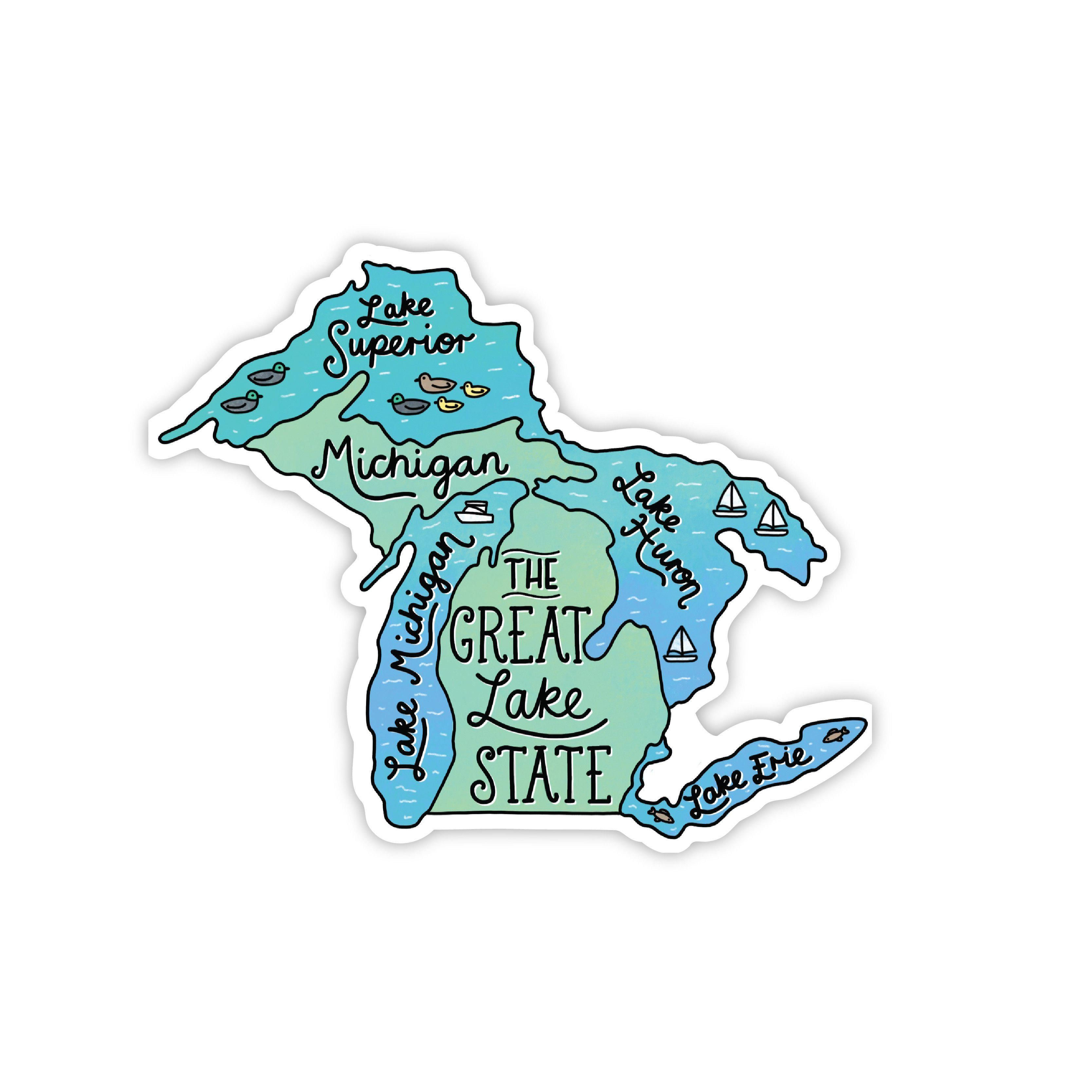 The Great Lake State Sticker In 2021 Michigan Sticker Michigan New Sticker [ jpg ]