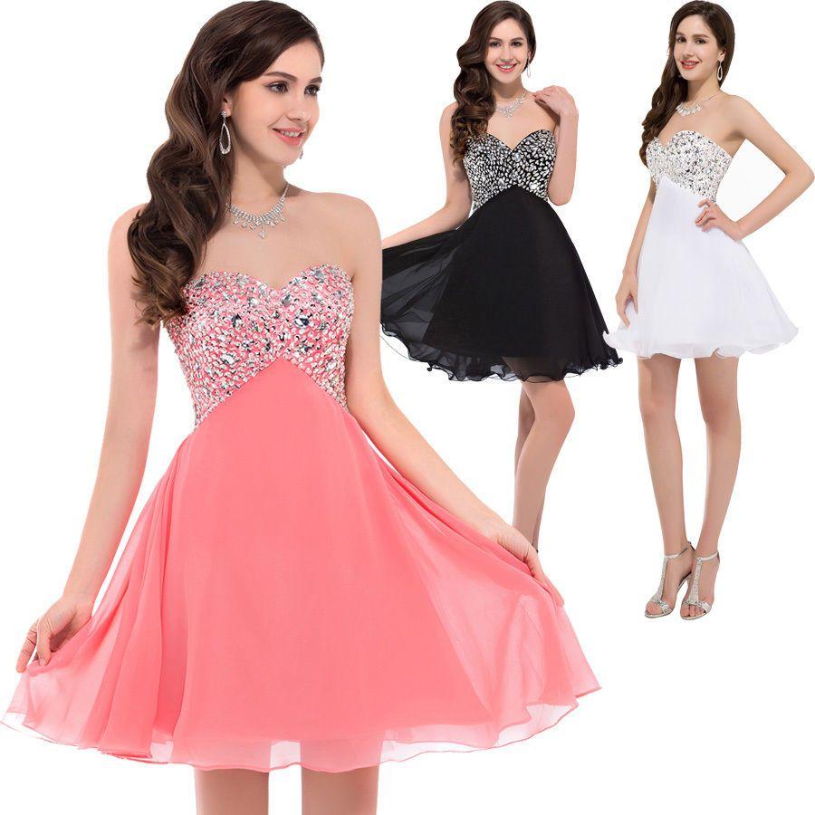 Fashion Formal BEADED Prom PARTY Homecoming Short Dress Bridesmaid ...