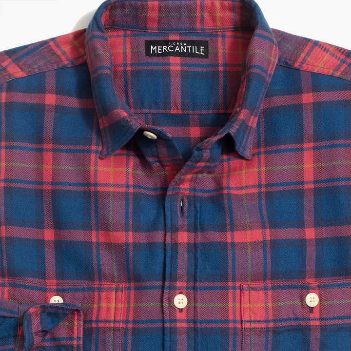 dbd4c8595848 J.Crew Factory Slim-fit heather flannel shirt in multi-colored buffalo check