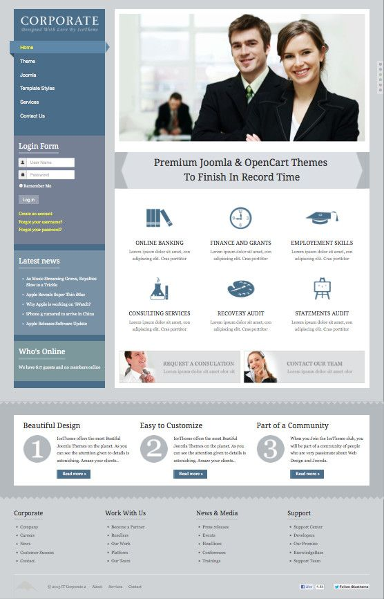 It corporate 2 responsive joomla business template joomla it corporate 2 responsive joomla business template wajeb Images