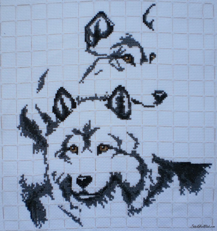 Схема волков в вышивке
