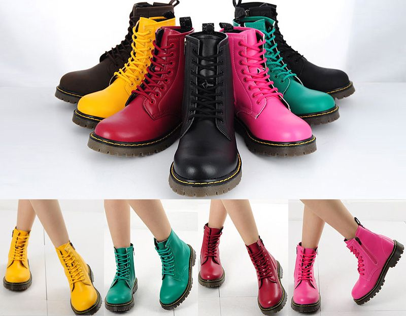 Colorful Combat Boots - Cr Boot