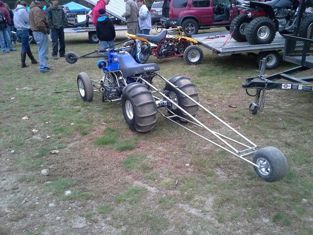 Yamaha Banshee Drag Bike With Wheelie Bar And Yeah Im A Girl