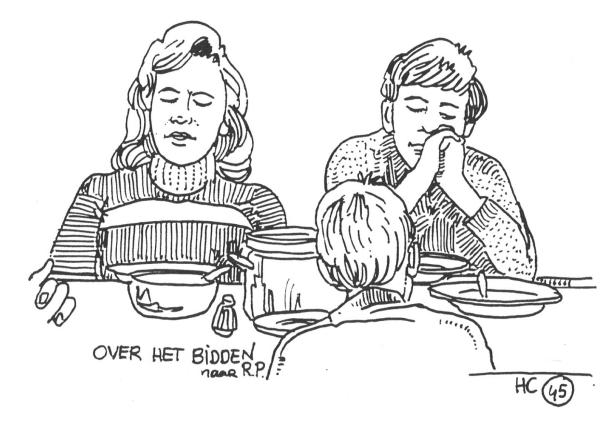 hc 45 bidden bij het eten kleurplaat te gebruiken bij