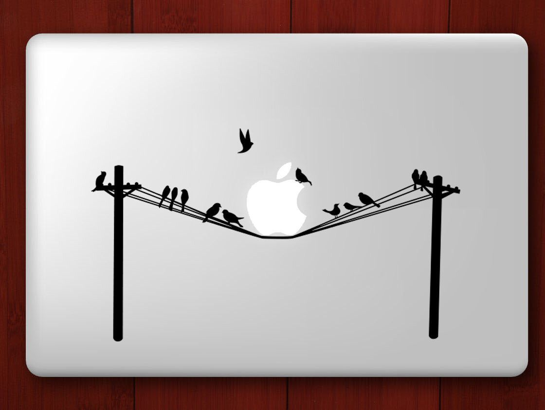 Birds on a Telephone Wire - MacBook Decal by vvvcubed on Etsy https ...