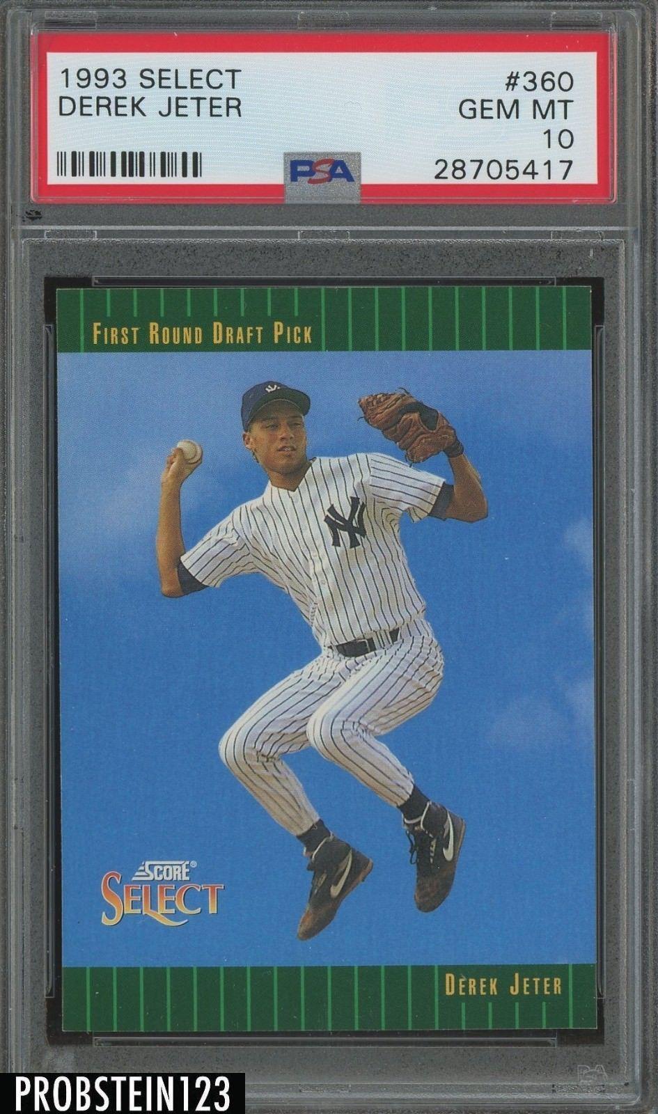 1993 select 360 derek jeter new york yankees rc rookie