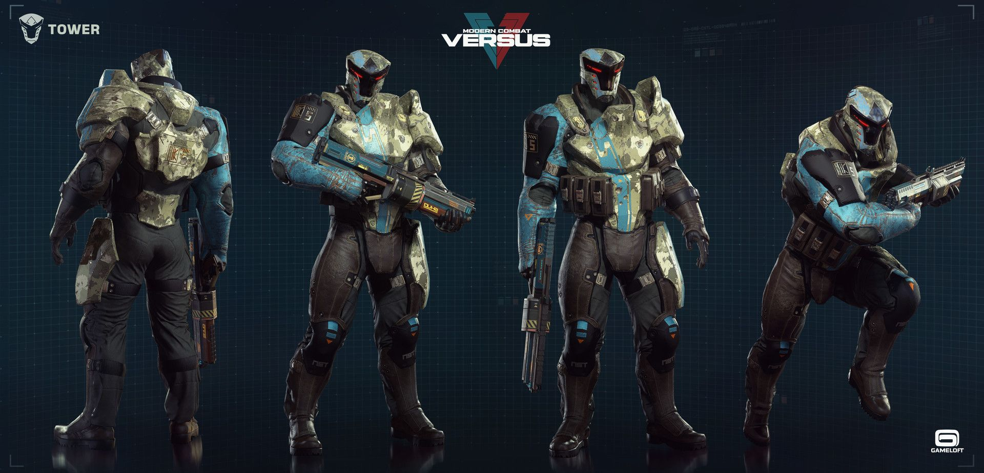 Modern Combat Versus Character Team Art Dump Combat Cyberpunk Character Tactical Armor