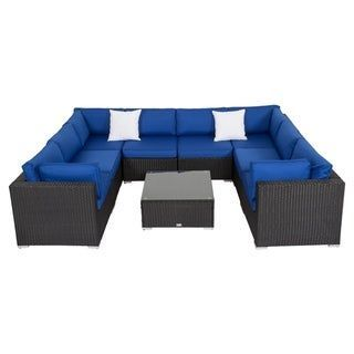 Kinbor 9 Piece Outdoor Furniture Patio Sectional Sofa All Weather