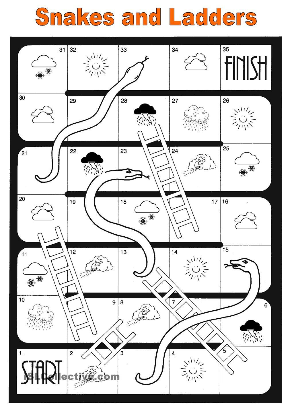 snakes and ladders template pdf - snakes and ladders weather francais pinterest ladder