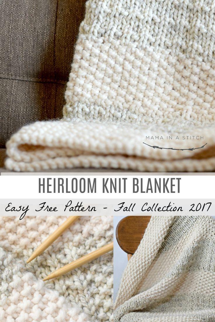 Easy Heirloom Knit Blanket Pattern &Ndash; Mama In A Stitch - Knit Blanket