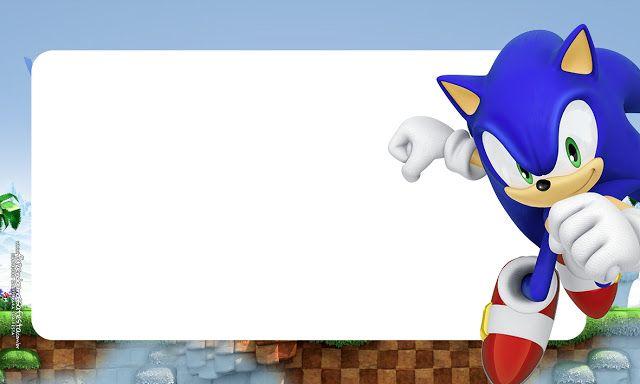 Sonic Para Imprimir Em 2020 Festas De Aniversario Do Sonic Aniversario Do Sonic Etiquetas De Nome Nas Escolas
