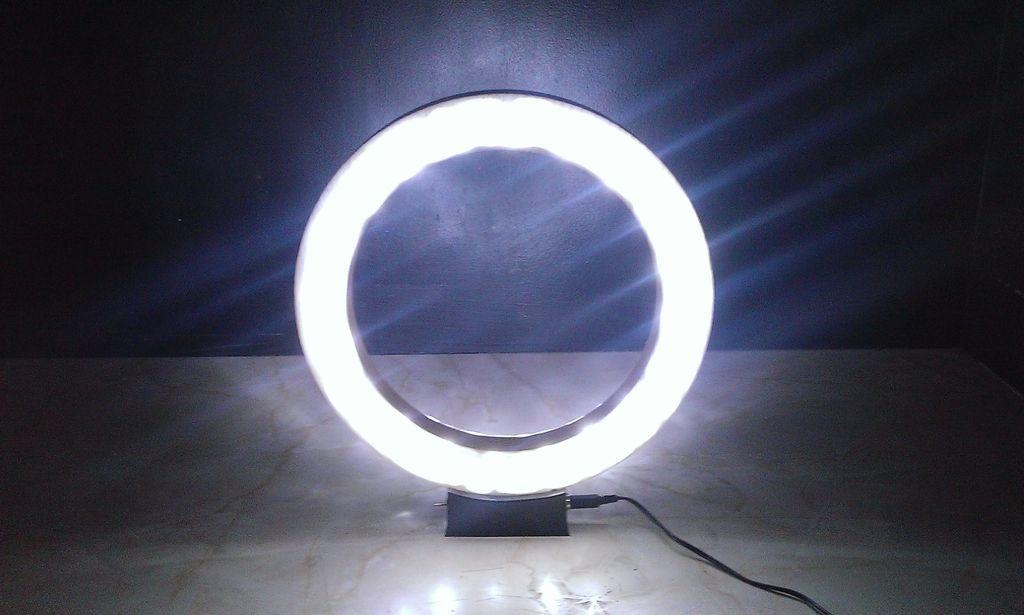 How To Make The Ring Lamp Diy Ring Light Ring Lamp Led Lamp Diy