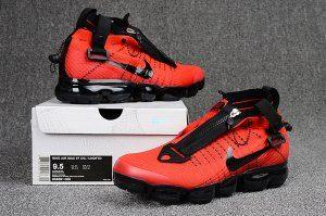 buy popular fc46d ed8a4 Nike Air Vapormax Flyknit Zipper October Red Black 899473 008 Men s Running  Shoes