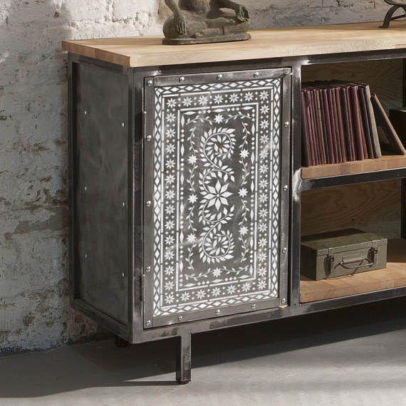 JAIPUR Indian Inlay Furniture Floor Craft Stencil - JA004FL | Indio ...