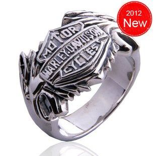 Men Sterling Silver Harley Davidson Flame Rings Harley Rings For