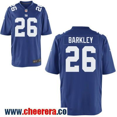 Men s New York Giants  26 Saquon Barkley Royal Blue Team Color Stitched NFL Nike  Game Jersey d8cdcee10