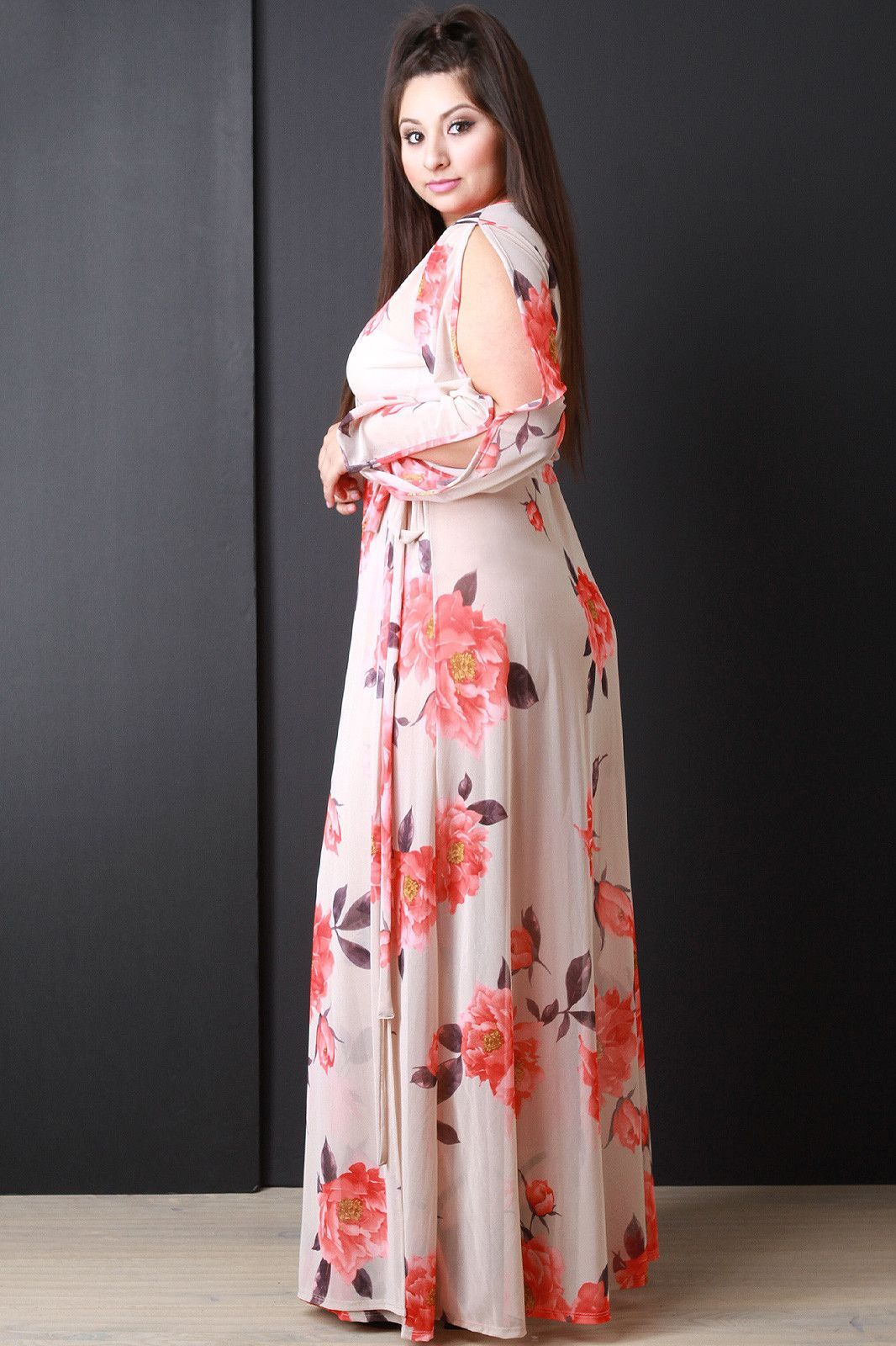 Semisheer floral wrap maxi dress apostolic fun pinterest