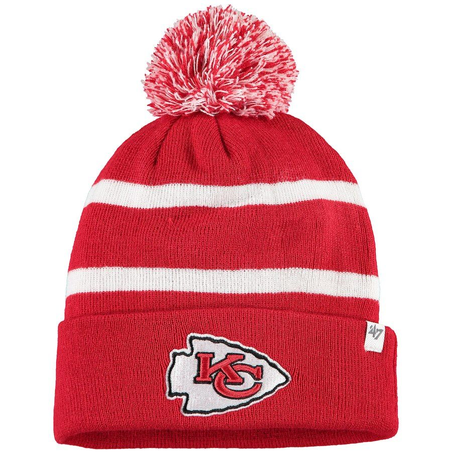 4c8c6ed88f4 Men s Kansas City Chiefs  47 Red Team Breakaway Cuffed Knit Hat with ...