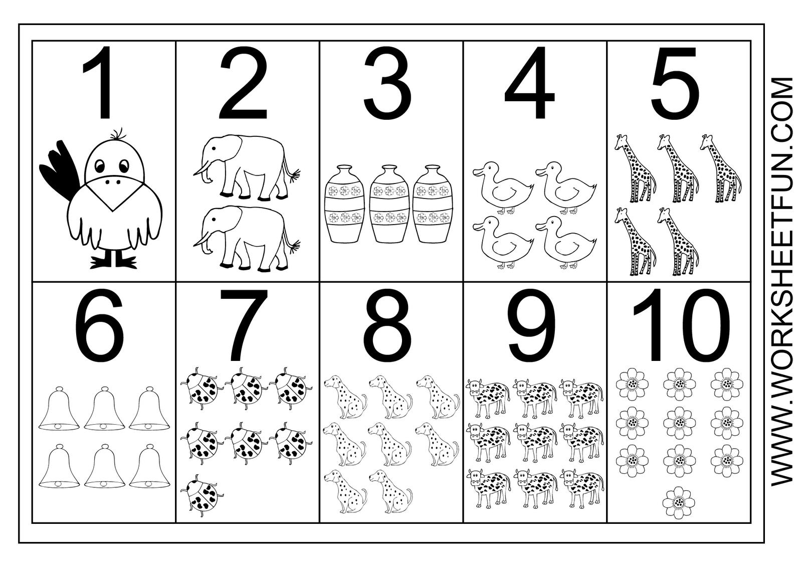 Numbers 1 10 Printable Worksheet
