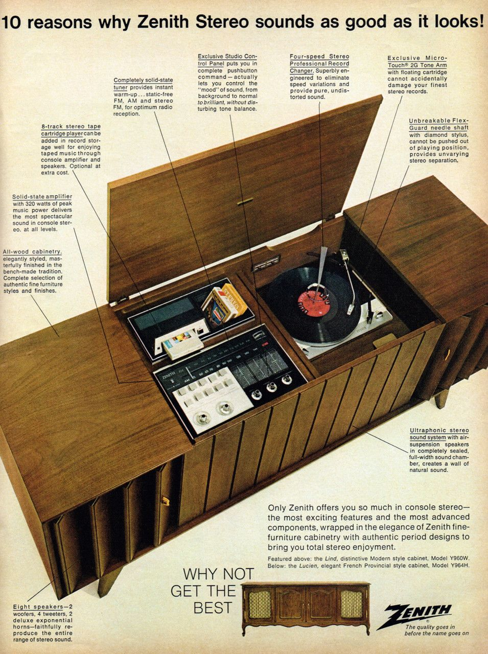 Zenith Stereo System, 1967 Yes, We Had One.