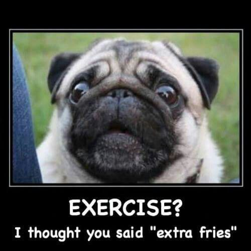 Exercise I Thought You Said Extra Fries With Images Cute