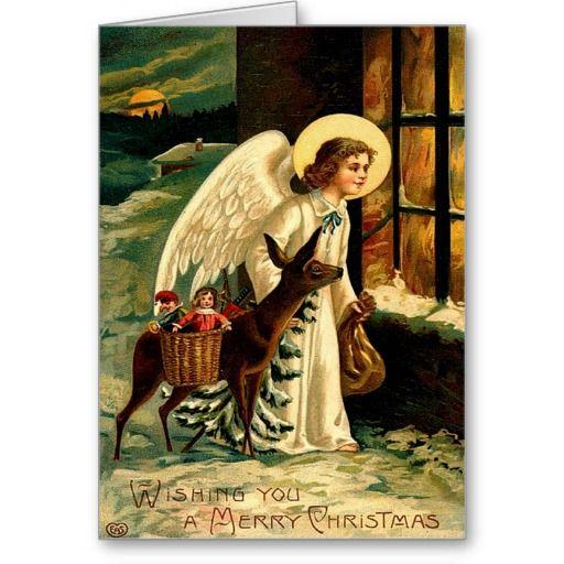 vintage_angel_deer_christmas_presents_card-r084a29c7b5ee4b248bff746977604547_xvuat_8byvr_512.jpg (512×512)