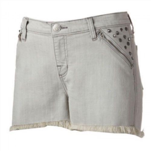 19.95$  Buy now - http://vidor.justgood.pw/vig/item.php?t=oitwkl191 - NWT Womens ROCK & REPUBLIC Pixie Armour Studded Raw Frayed Hem Denim Jean Shorts