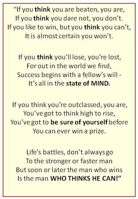 "cool Success Mind set Poem From ""Think & Grow Rich"" Best Quotes ..."