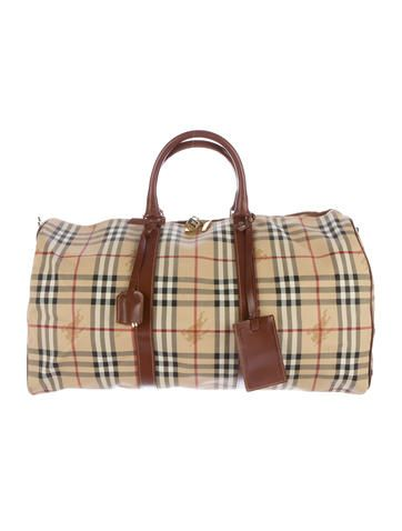 4bcc81cf415c Burberry Haymarket Check Duffle Bag