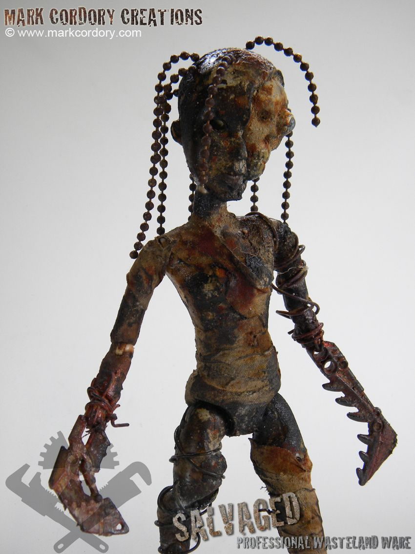 Post Apocalypse doll made by Mark Cordory Creations. Enquiries always welcome. www.markcordory.com